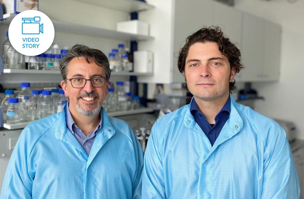 Prof. Andreas Ladurner, CSO und Dr. Adrian Schomburg, CEO Eisbach Bio GmbH